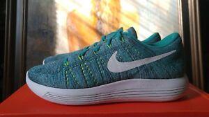 c5946f6500b Nike Women s Lunarepic Low Flyknit size 6 7.5 Clear Jade White teal ...