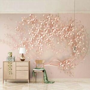 Details About 3d Rose Gold Bling Flower Floral Wall Mural Wallpaper Living Room Bedroom Lounge