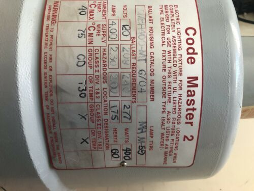 Appleton Electric CMBH400-MT code 2 400w 120-277v hazardous location fixture