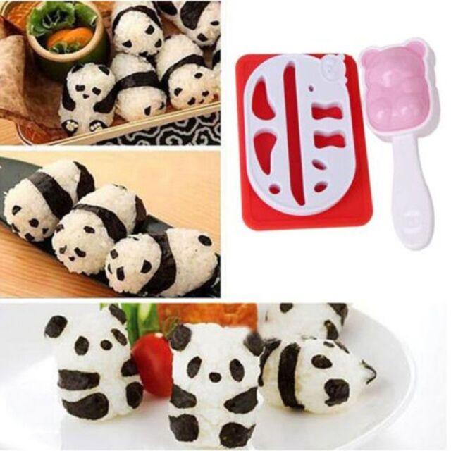 Rice Panda Ball Sushi Mold Onigiri Shape Diy Maker Kitchen Puncher Gadget Tool
