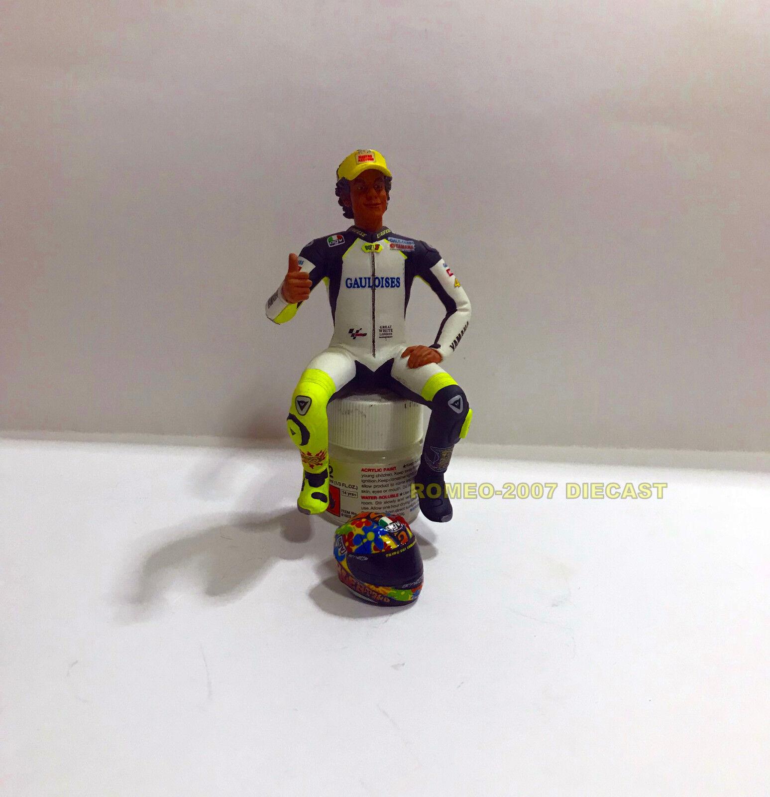 1 12 Conversión Minichamps Figure Figurine + Helmet Valentino Rossi 2004 Test