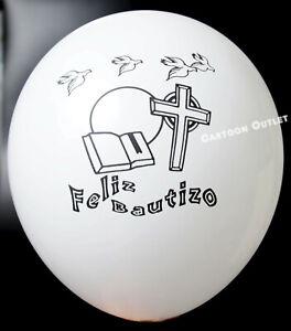 12-BAUTIZO-GLOBOS-PARTY-FAVOR-DECORATION-WHITE-BALLOONS-BAPTISM-RECUERDOS