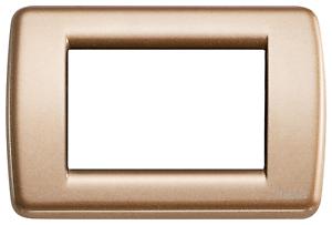 16753 22 Vimar Idée Plaque Rondo' Couleur Bronze 3 Modules