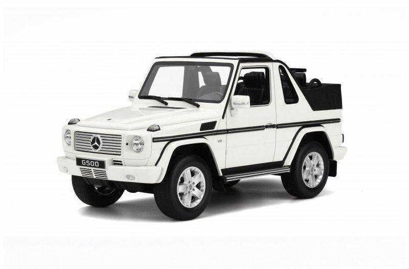 1 18 OTTO MOBILE Modèle Mercedes Benz MB Classe-G G500 W463 véhicule utilitaire sport 4x4 Blanc