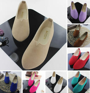 Women-039-s-Shoes-Suede-Ballet-Flats-Casual-Shoe-Womens-Loafers-Zapatos-Plus-Size