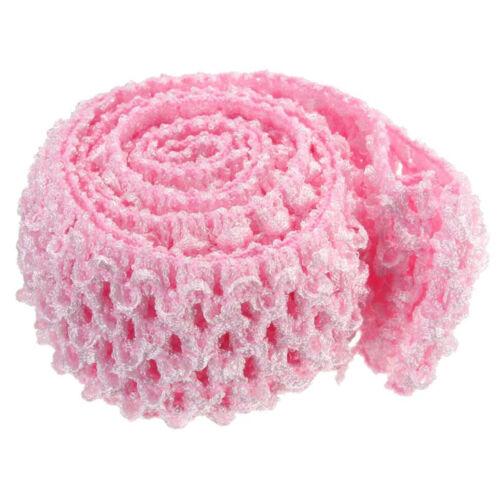 2 Metres Crochet Elastic Waistband Headband 1.5/'/' Width Hair Band Top Tutu Skirt