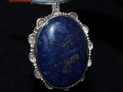 Lapis silver necklace Large necklace Lapis lazuli necklace Silver twisted necklace Long silver necklace Sterling large necklace