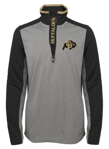 "Colorado Buffaloes NCAA /""Top Notch/"" Men/'s 1//4 Zip Mock Neck Jacket"