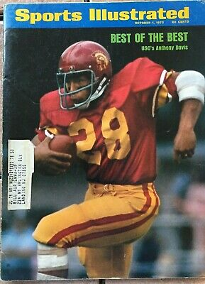 1973 Anthony Davis USC Trojans Football SPORTS ILLUSTRATED A October 1