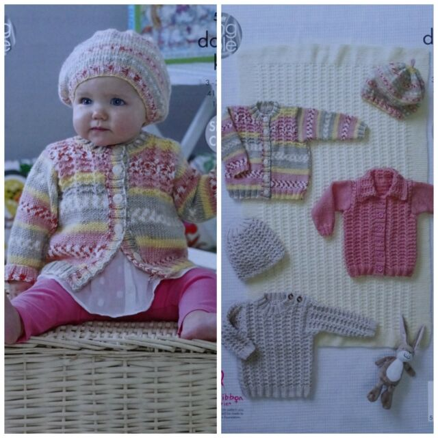 ab51c7623dd3 King Cole 5082 Knitting Pattern Blanket Sweater Cardigans Hat in ...