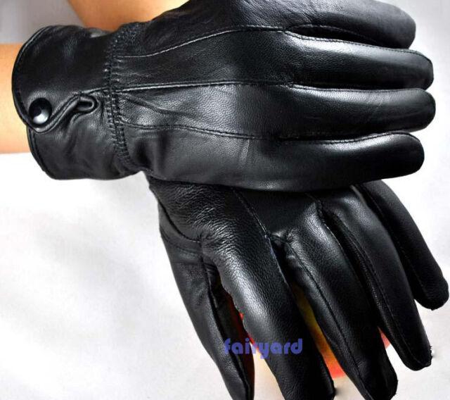 Winter Real Sheepskin Leather Gloves Fur Cape Glove Women Bike Motor Cycling Hot