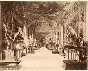 Diplomatique Italia, Torino. Palazzo Reale - Sala D'armi Vintage Albumen Print. Italy.