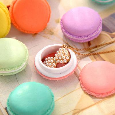 6 Pcs Random Color Cute Macaroon Jewelry Earphone Pill Storage Box Case Novelty