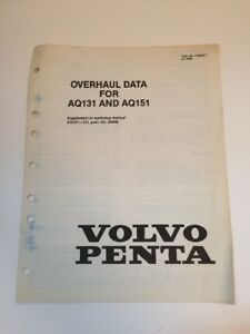 volvo penta aq131 aq151 aq171 marine engine shop manual