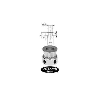 Gt2 engranaje-pulley//20 dientes//8mm ola-CNC//RepRap Mendel//impresora 3d