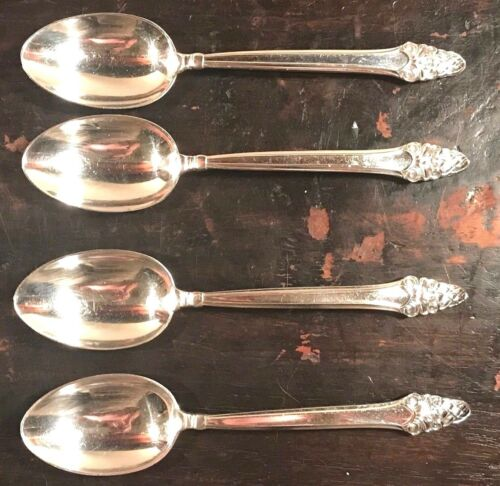3 Sets AVAIL SOVEREIGN Set of 4 STERLING SILVER TEASPOONS GORHAM NO MONO