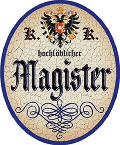 Nostalgieschild Magister