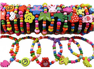 Image Is Loading Bracelets For S Colourful Wooden Beads Mixed Designs