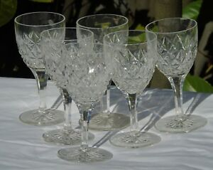 Service-de-6-verres-a-vin-en-cristal-taille-XIXe-s-Haut-13-4-cm