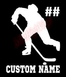 Custom-Hockey-Player-Number-Name-Vinyl-Decal-Window-Sticker-Car