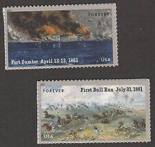 US 4522-4523 Civil War 1861 forever set (2 stamps) MNH 2011