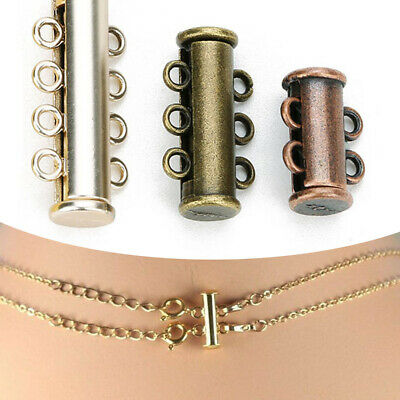 5Pcs Multi Strand Clasp Spacer Connector For Bracelet Necklace Jewelry Finding
