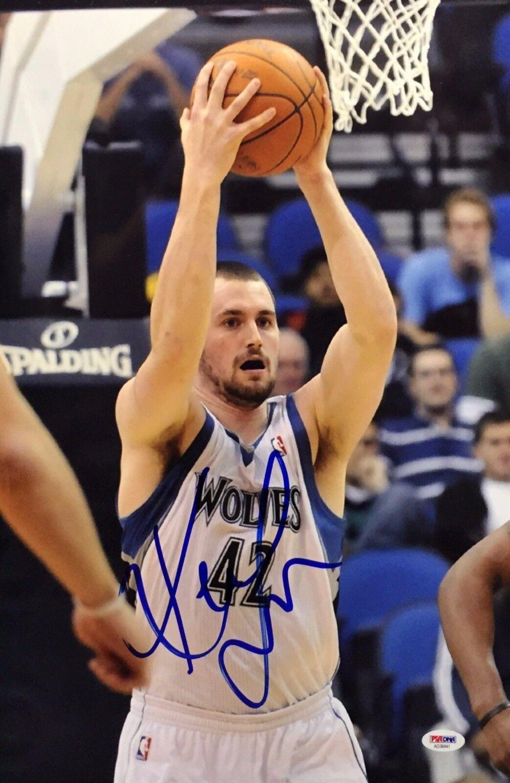 Kevin Love Signed Minnesota Timberwolves Basketball 12x18 Photo PSA AD38441