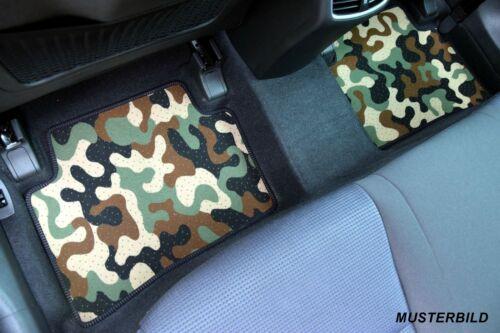 Armee-Tarnungs Autoteppich Auto-Matten für Jeep Grand Cherokee III 2005-2010