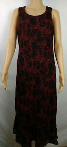 Studio-I-Black-And-Red-Career-Church-Dress-Maxi-Women-039-s-Size-12