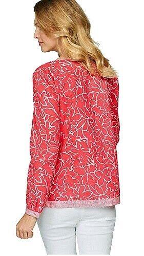 Superbes marques tunique chemisier taille 42-44-46-48 corail fleuris NEUF 48638357