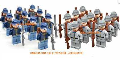 100 Pcs Minifigures lego MOC The South American Civil War Soldier /& Weapons Toys