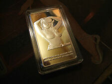 2 Sided 3D Pin Up Cowgirl .999 Fine Clad Silver Bar 32.7 gr Lost Her Lighter