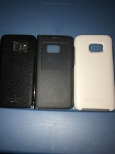 Lot-Of-3pc-Samsung-Galaxy-S7-Kate-Spade-Original-Flip-White-Otterbox-Cases