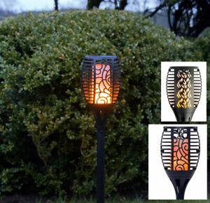 LED-Solar-Fackel-Garten-Flamme-Gartenfackel-Flammeneffekt-amber-Versch-Modelle