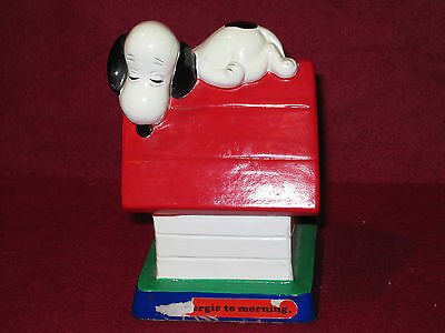 SNOOPY DOG with Blue Background Mid Century Plastic Button