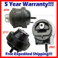 L781 For 96-99 Ford Taurus Sho 3.4l, Front & Rear Motor Mount & Trans Mount 3pcs