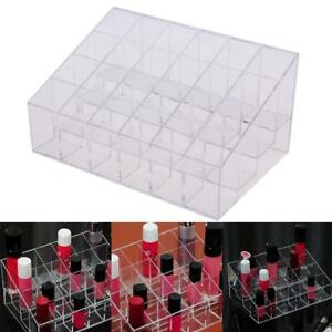 Acrylic-24-Slots-Cosmetic-Organizer-Makeup-Case-Holder-Display-Stand-Storage