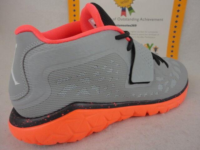 Nike Boys Jordan 1 Retro High Basketball Shoe MTLC Hematite//Black//Cool Grey//Hyper Orange 12C