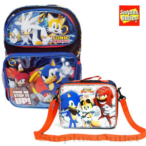 New Sonic The Hedgehog Step It Up Large 16 Backpack Lunch Bag 2pc Set Ebay