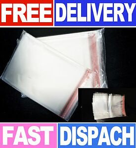 GARMENT-CLEAR-CELLOPHANE-PLASTIC-BAGS-SELF-SEAL-ADHESIVE-TAPE-T-SHIRT