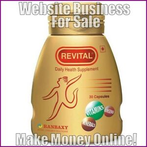 HEALTH SUPPLEMENTS Website Earn £19 A SALE|FREE Domain|FREE Hosting|FREE Traffic