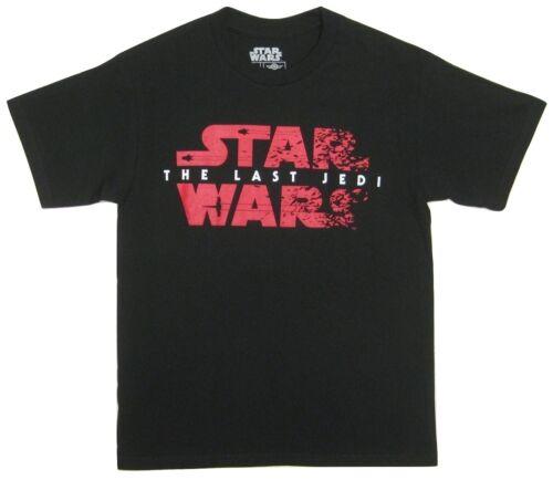 NWT Episode VIII The Last Jedi Men/'s Short Sleeve Tee Black Star Wars