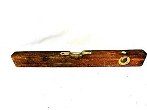 Details About Old Wood Tool Vintage Wooden Level Tool Pat 3515309 Retro Antique