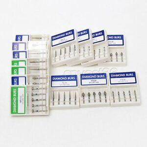 10-Boxes-Dental-Diamond-burs-Dental-Diamantbohrer-high-speed-handpiece-turbine