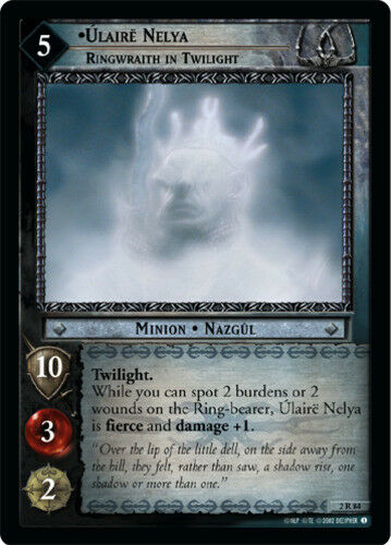 Ringwraith in Twilight LOTR: Ulaire Nelya Mines of Moria Lo Moderately Played
