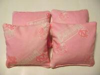 4 Cornhole Unc North Carolina Tarheel Bean Bag Corn Hole Tailgate Toss Pink