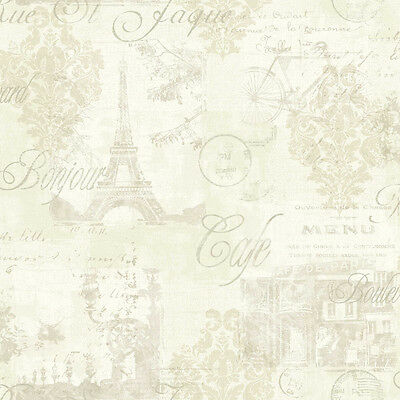 Arthouse Louvre Shabby Chic Cream Paris French Parisian Inspired Wallpaper