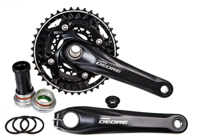 Shimano Deore 10s Triple Crank Set - FC-M612 - With Bottom Bracket - 22/30/40t