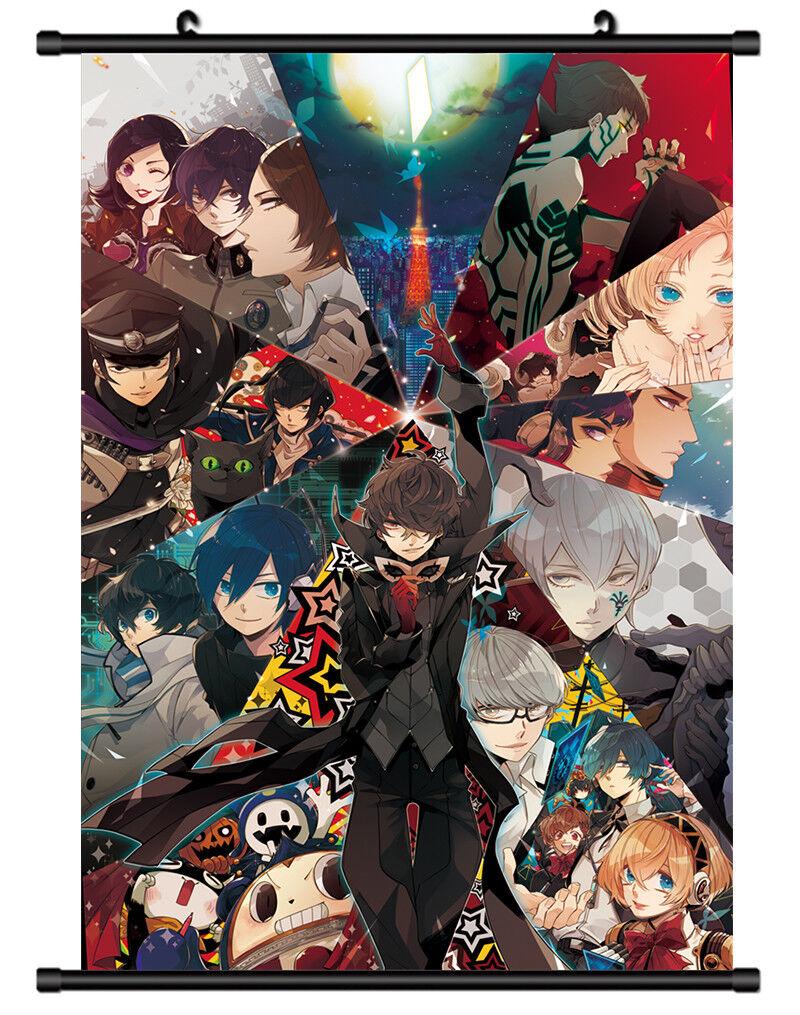 4689 Shin Megami Tensei Persona 5 Panther Decor Poster Wall Scroll cosplay