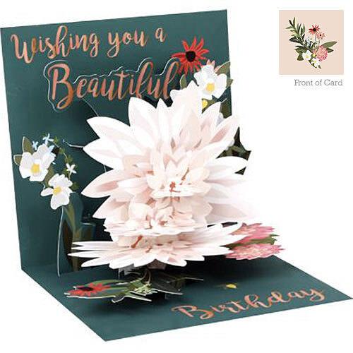 3D Pop Up Carte de vœux de avec papier-Belle anniversaire #UP-WP-1265